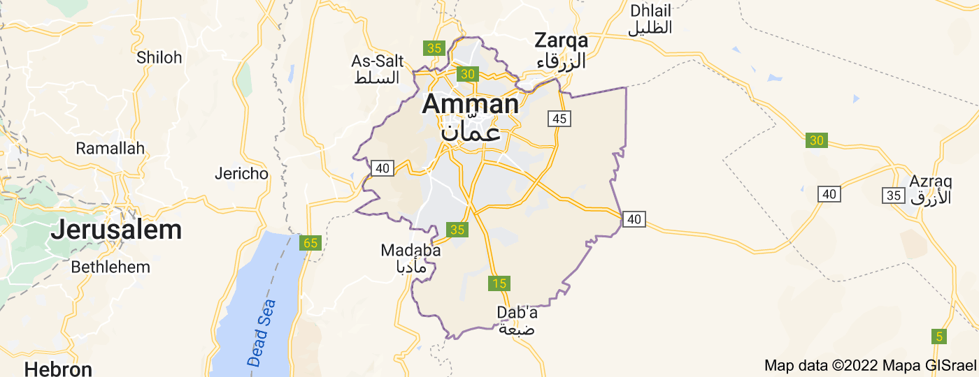 Location of Amman