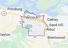 Map of Antioch, California