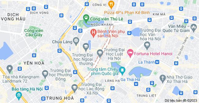 Bản đồ của Nguyễn Chí Thanh, Hà Nội