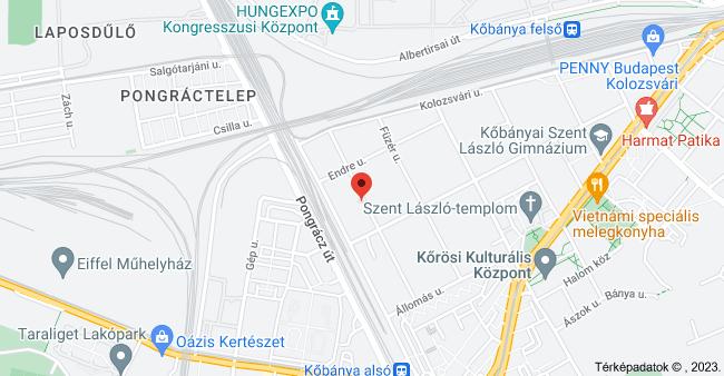 Budapest, Hölgy u. 34, 1102 térképe