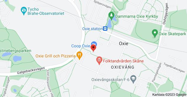 Karta över Stengodsvägen 121, 238 30 Oxie