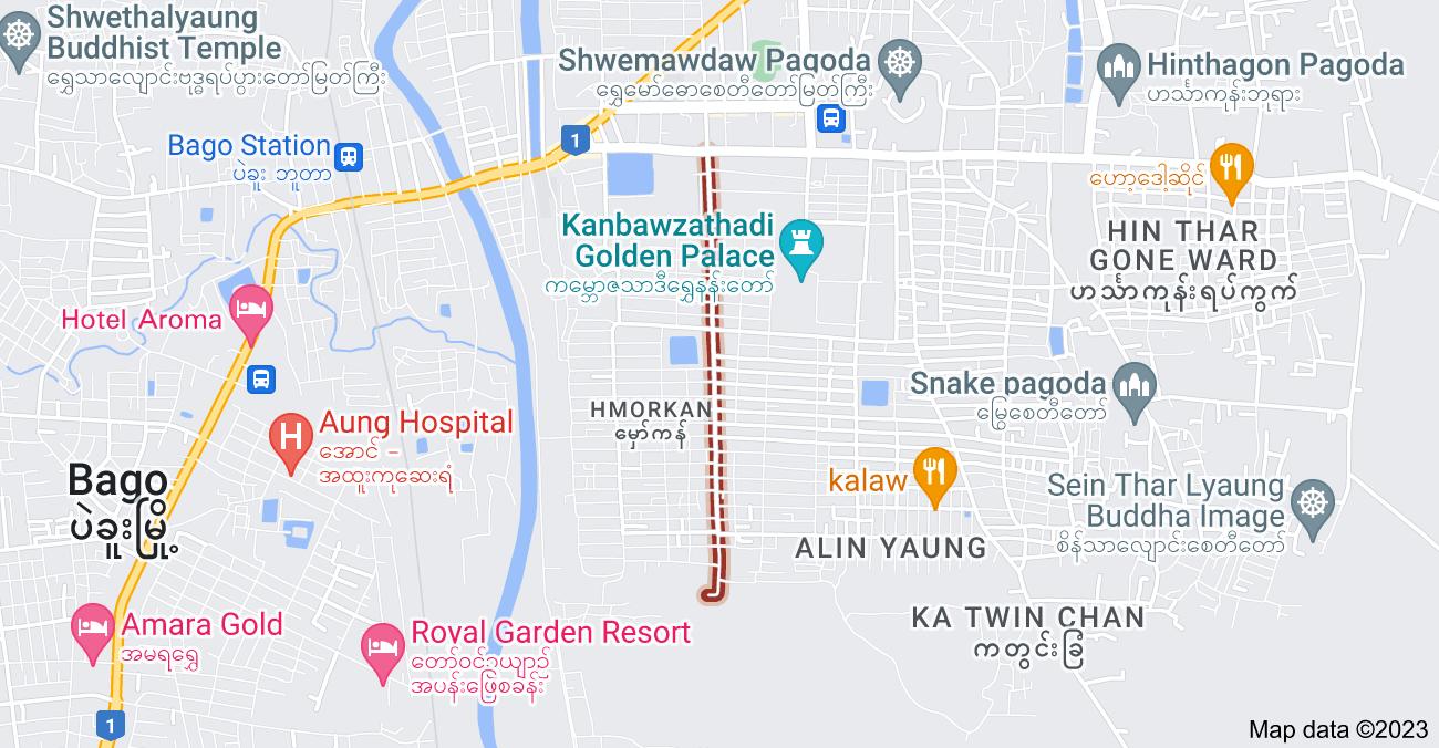 Map of MaGaDit Rd, Pegu, Myanmar (Burma)