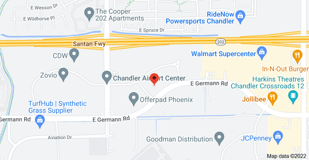 Map of 2250 E Germann Rd, Chandler, AZ 85286