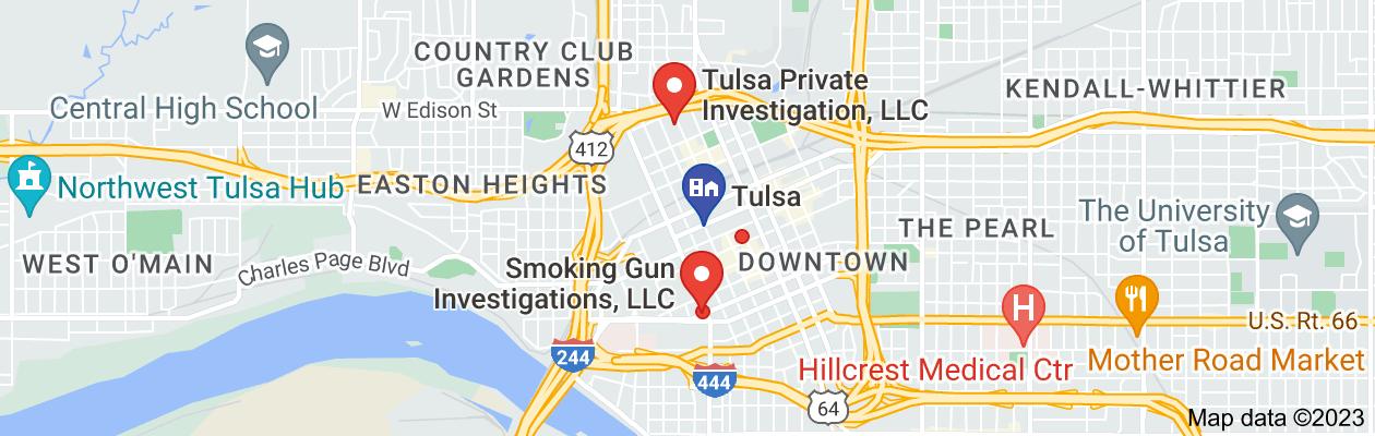 Map of private investigator in tulsa