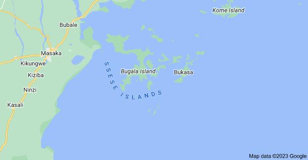 Map of Ssese Islands, Uganda