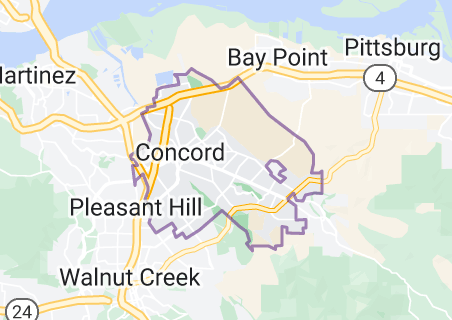 Map of Concord, California