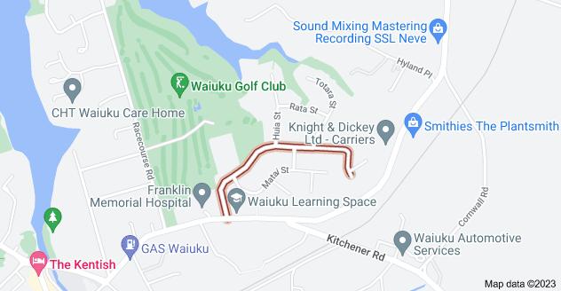 Location of Hamilton Drive