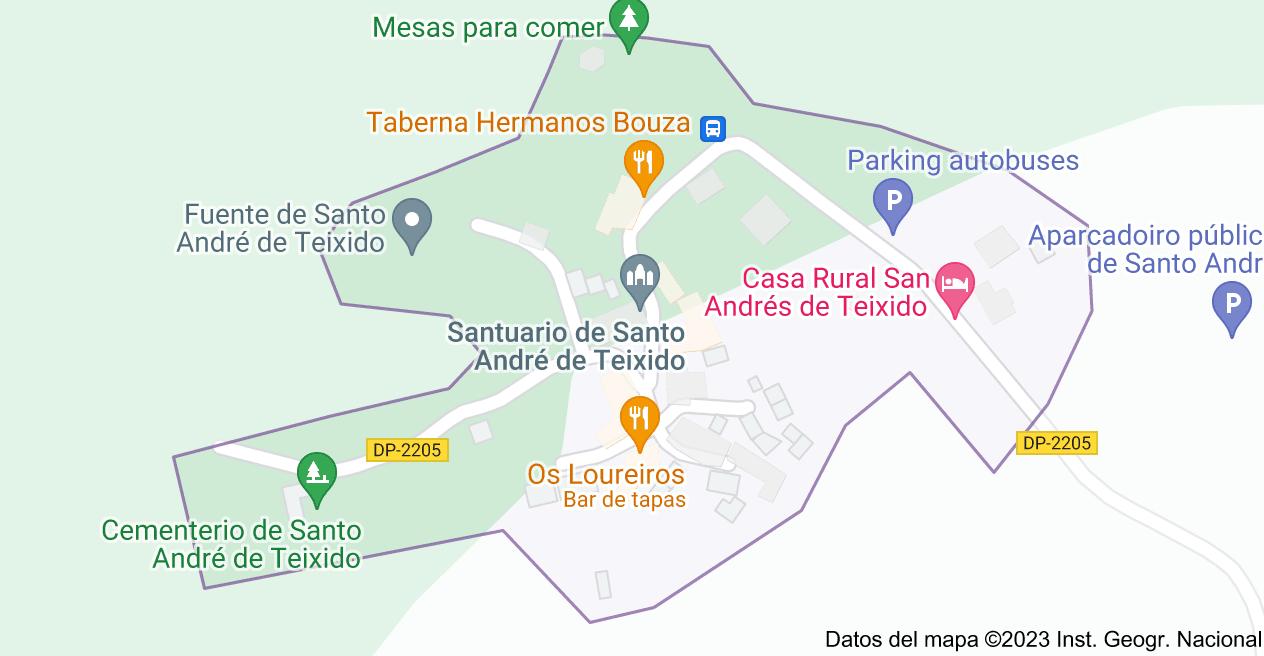 Mapa de 15358 Teixido, La Coruña