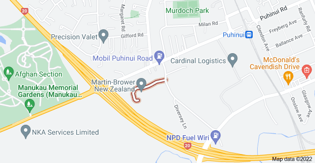 Location of Golden Arches Place