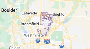 Map of Thornton, Colorado