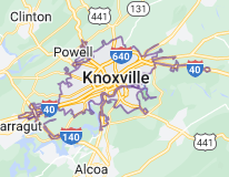 Map of Knoxville, Tennessee