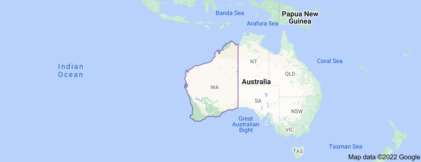 Location of Western Australia
