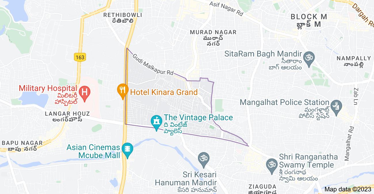 Map of Gudimalkapur, Hyderabad, Telangana 500264, India