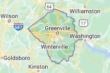Map of Pitt County