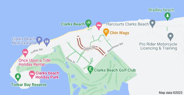 Location of Taihiki Road