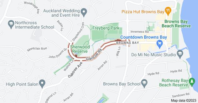 Location of Glencoe Road