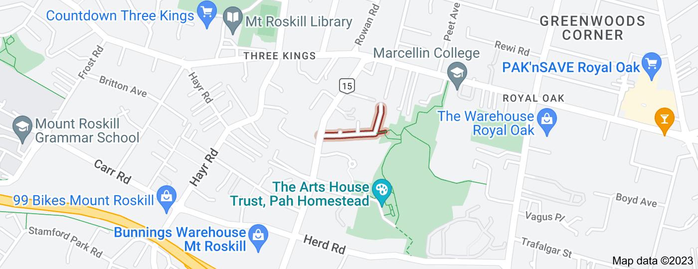 Location of Budock Road