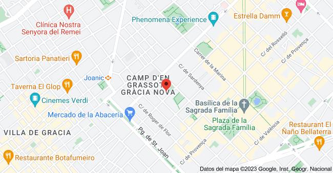 Mapa de Calle Industria, 63, 08025 Barcelona