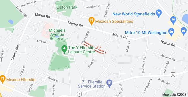 Location of Vause Street
