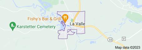 Map of La Valle Wisconsin