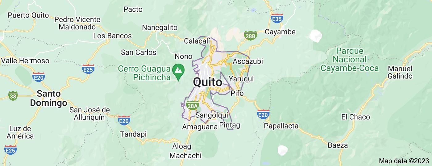 Location of Quito