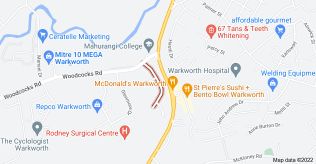 Location of Campbell Drive