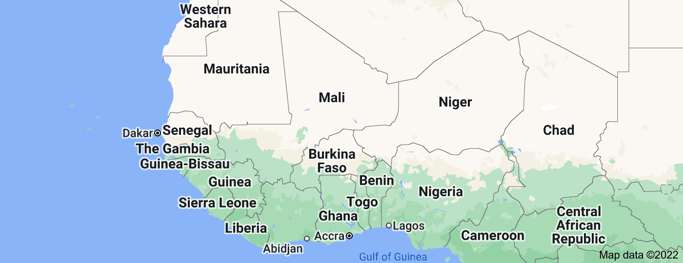 Location of West Africa
