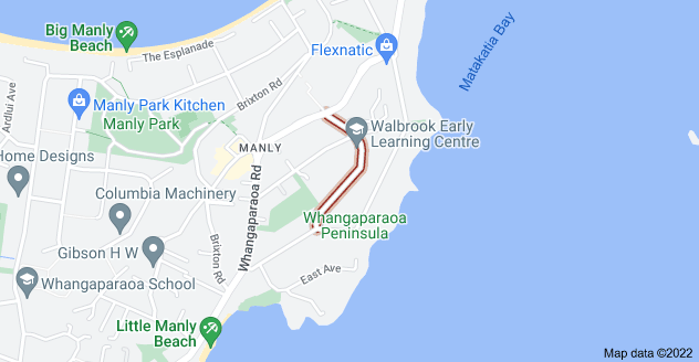 Location of Walbrook Road