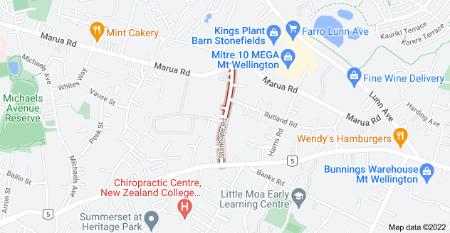 Location of Stanhope Road