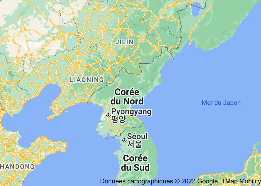 Location of Corée du Nord