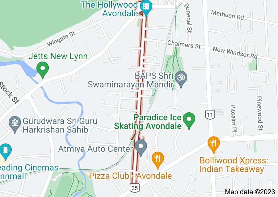 Location of Saint Georges Road