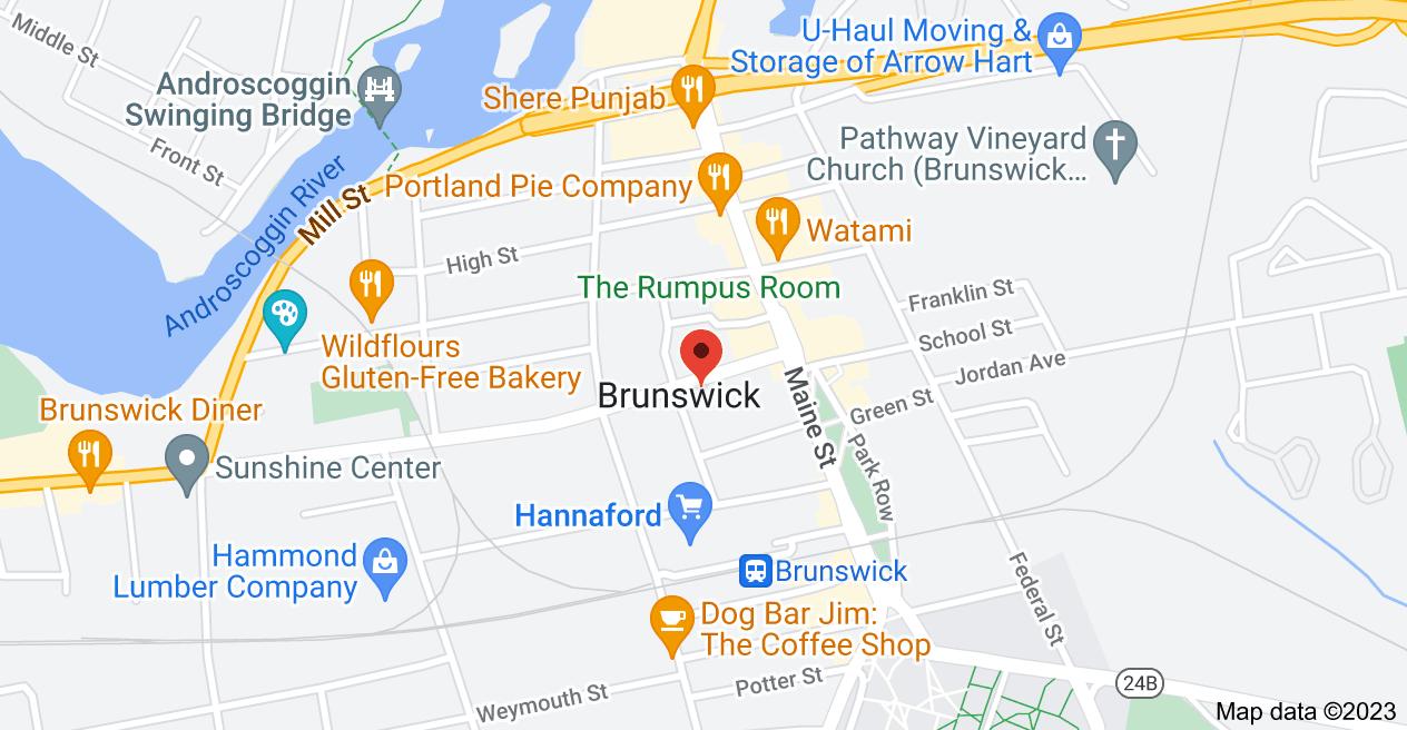 Map of 13 Pleasant St, Brunswick, ME 04011