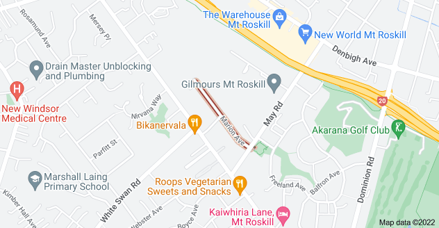Location of Marion Avenue