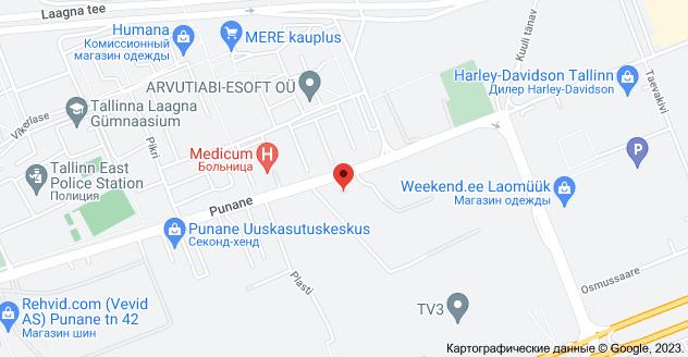 Punane 68, 13619 Tallinn: карта