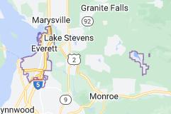 Map of Everett, Washington