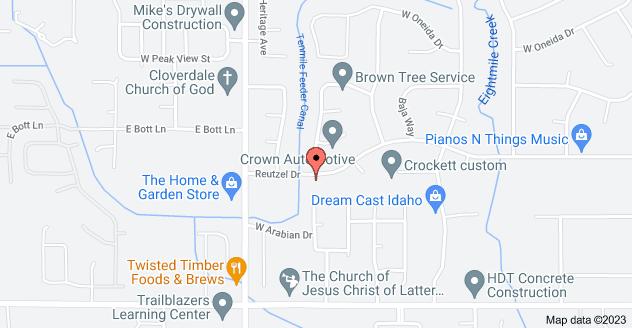 Map of 11965 Reutzel Dr, Boise, ID 83709
