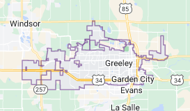 Map of Greeley, Colorado