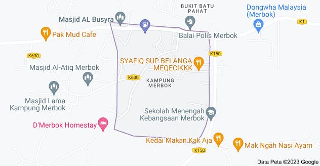 Peta Kampung Merbok, 08400 Merbok, Kedah, Malaysia