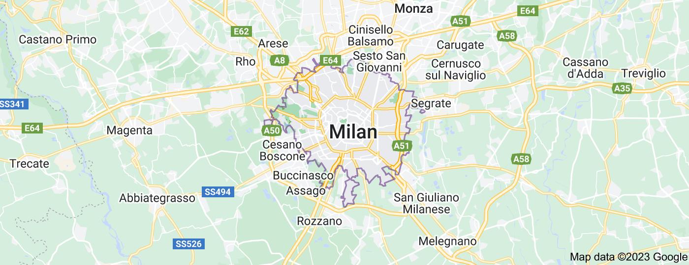 Location of Milan