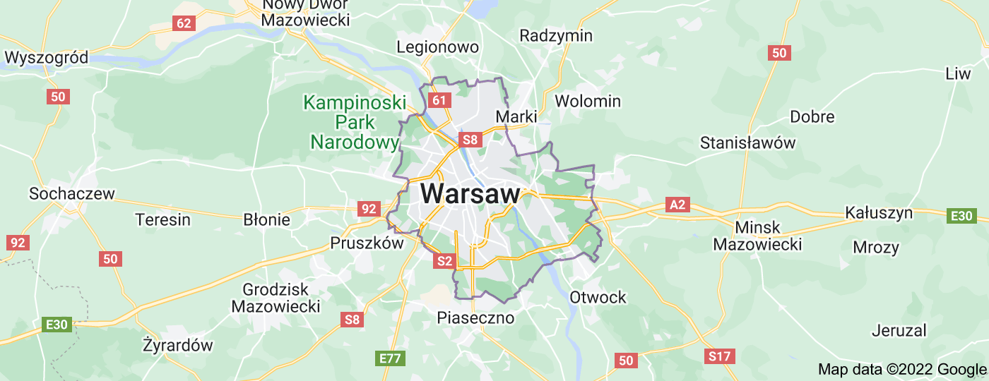 Location of Warsaw
