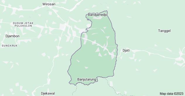 Map of Gabus, Grobogan Regency, Central Java, Indonesia