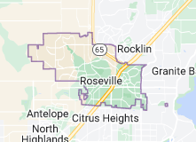 Map of Roseville, California