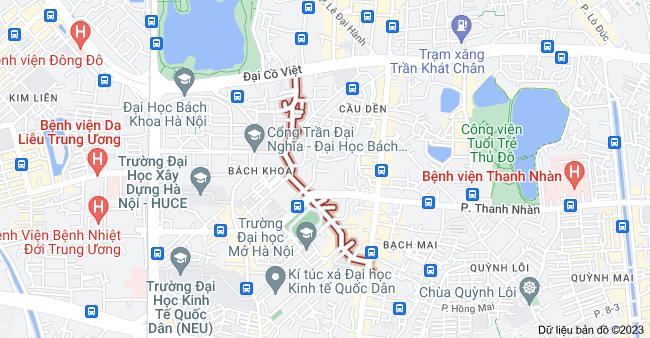 Bản đồ của Tạ Quang Bửu, Hai Bà Trưng, Hà Nội