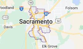 Map of Sacramento California