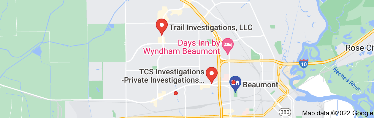 Map of private investigator beaumont tx