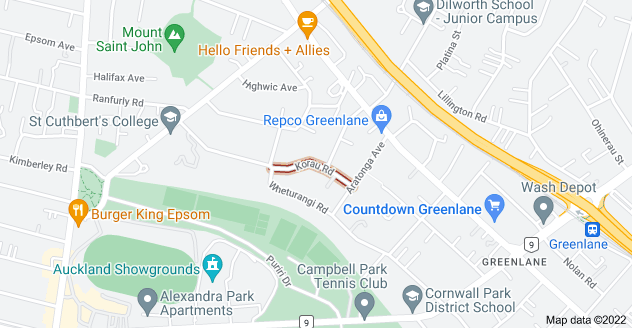 Location of Korau Road