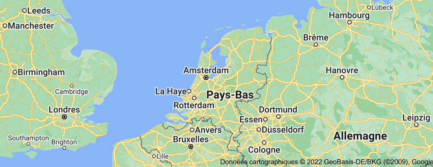 Location of Pays-Bas
