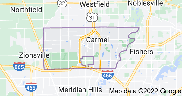 Map of Carmel, Indiana