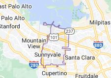 Map of Sunnyvale, California