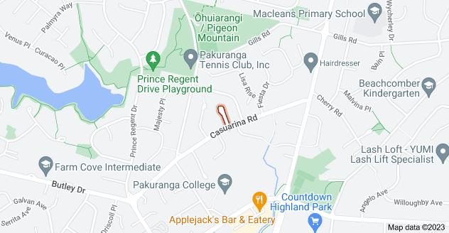 Location of Kereru Place